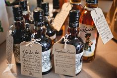 """How to propose to your """"wedding crew"""" with pirate-themed booze-y gifts. Yep, I think this needs to happen."""
