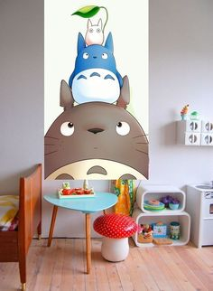 My neighbor Totoro Deco Cool, Ghibli Movies, My Neighbor Totoro, Miyazaki, Studio Ghibli, Playroom, Kids Room, Room Decor, Nursery