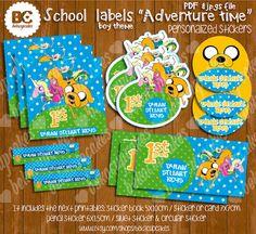 Back to School Labels Personalized book labels por Bekacupcakes