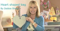 Sewing a Valentines heart bag by Debbie Shore Sewing Hacks, Sewing Tutorials, Sewing Projects, Sewing Patterns, Bag Tutorials, Bag Patterns, Sewing Tips, Sewing Ideas, Cute Valentines Day Cards