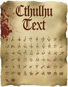 Cthulhu Text: TTF Font File - Cthulhu Text: TTF Font File Discovered in 1923 by Stapleton McTavish the famous explorer and collector of ancie Alphabet Code, Alphabet Symbols, Sign Language Alphabet, Cursive Alphabet, Ancient Alphabets, Ancient Symbols, Viking Symbols, Egyptian Symbols, Lettering