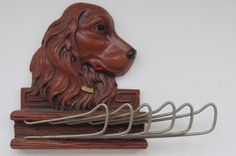 Vintage Irish Setter Tie Rack  Golden Retriever by shabbyshopgirls, $19.99
