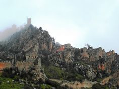 St Hilarion Castle (Cyprus). 'Legend has it that this dreamy fortress was the inspiration for the spectacularly animated palace of the wicked queen in Walt Disney's Snow White. Its ruins now form a jagged outline across the rocky landscape, exuding the Gothic charm of the Lusignan court that once convened here during the summer.' http://www.lonelyplanet.com/cyprus