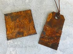 Rust anything. Katalina Jewelry: An Experiment in Rust Patina Metal, Rusty Metal, Primitive Painting, Peeling Paint, Found Object Art, Rustic Crafts, Aging Wood, Paper Beads, How To Make Paper