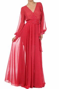 FULL SWEEP Sheer Chiffon MAXI DRESS Long Sleeve BOUTIQUE Skirt Cruise Resort #VaVaVoom #Maxi #Cocktail
