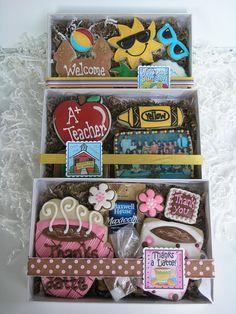 Teacher gifts by East Coast Cookies, via Flickr