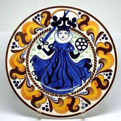 Royal Copenhagen 1905 Aluminia Faience Dish St Catherine Hjorring Earthenware #RoyalCopenhagen #Elizabethan