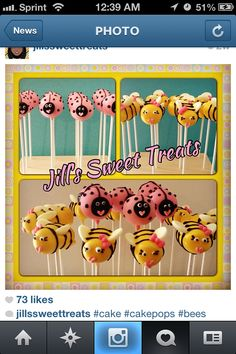 #bees #ladybugs #girly #cake #cakepops #celebration #baking #elegance #awesome #cakepopart #foodie #stripes #foodart #foodista #ladies #foodsgram #foodlover #foodtography #foodforfoodie #goodies #instafood #cakeball #tasty #treats #pink #scroll #sweets #sweettooth #cakelove #cakepoplove #cakepopcraze #cakeswag  #bling