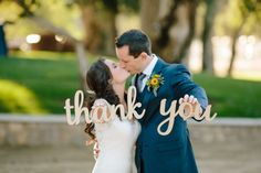 Lasercut thank you photo props by Black Label Decor