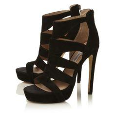SPYCEE SM - Metallic Caged Stiletto Heel Sandal By Steve Madden, online at Dune London #dunelondon #stevemaddenuk #style #fashion #sandals #caged #aw13 #heels