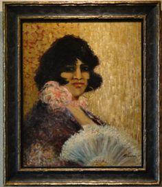 Gumtze: Spaanse dame met waaier.
