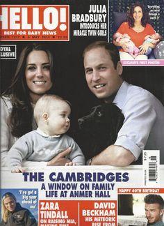 Hello magazine Kate Middleton Prince William and George David Beckham