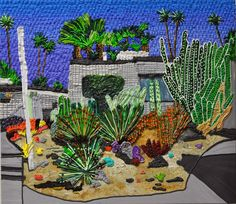 Palm Springs Shadow by Caroline Larsen, Oil on Canvas, 27 x 31 inches, 2014