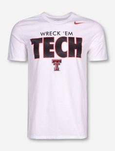 e0787115d0e0 Nike Texas Tech Wreck  Em Tech on White T-Shirt