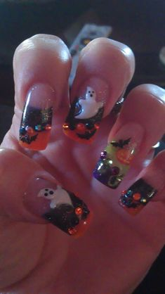 Happy Halloween! - Nail Art Gallery by NAILS Magazine  I am not into nail art, really. Just into anything Halloween