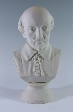 Ott and Brewer, parian porcelain bust of English poet and playwright William Shakespeare, by Issac Broome, 1876. $4,000.00