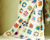Granny Square Afghan Throw - Etsy
