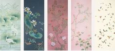 I adore this hand painted wallpaper from Misha!