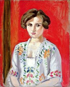 Henri Matisse (French: 1869 - 1954) - The Bulgarian Blouse (1920)