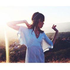 Tara Mackey rocking Synergy Organic Clothing Athena Kaftan #spottedinsynergy
