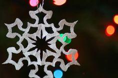 Pretty Glitter Paper Snowflakes