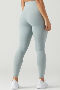 f7f60a7c70 Matching set yoga outfit: this soft blue high-rise legging + the matching  sweetheart