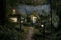 I love the cullen cabin in breaking dawn part two. so beautiful