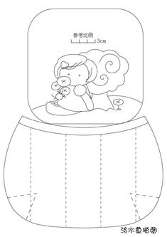[Пресноводные] милые девушки ручной мешок руки (бумажные чертежи)