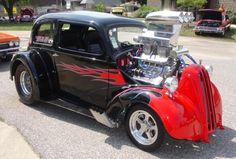 Custom Muscle Cars, Custom Cars, Classic Hot Rod, Classic Cars, Hot Rods, Ford Anglia, T Bucket, Hot Rod Trucks, Sweet Cars