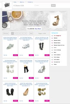 Our eBay store design template for K Stores USA.
