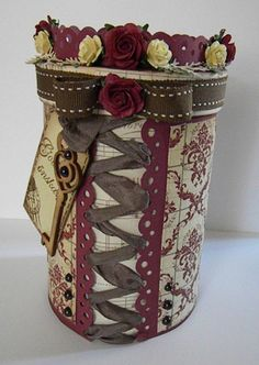 altered oatmeal container...could change up colors...
