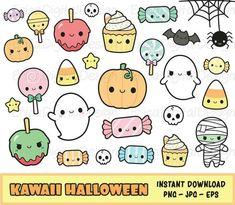 Kawaii Halloween, Cute Halloween Drawings, Halloween Mono, Halloween Doodle, Halloween Clipart, Halloween Stickers, Kawaii Doodles, Cute Kawaii Drawings, Cute Doodles