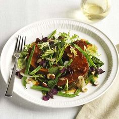 Soy-roast pumpkin salad