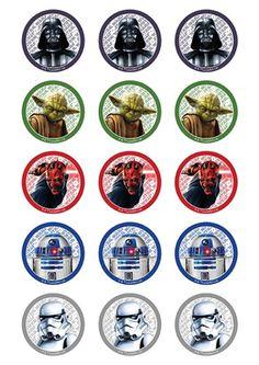 Star Wars cupcake toppers (15)                                                                                                                                                                                 Más