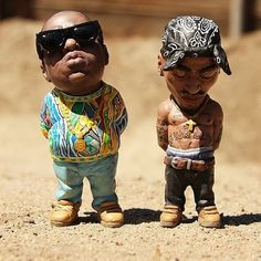 These are so dope! Miniature Biggie x Tupac
