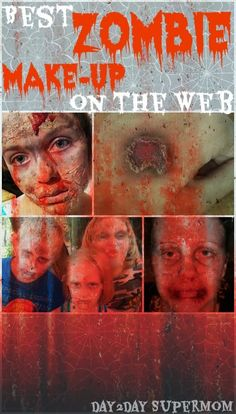 Best Zombie Make-Up Tutorials on the Web ~ Halloween and The Walking Dead pinned from Rock N Share #61