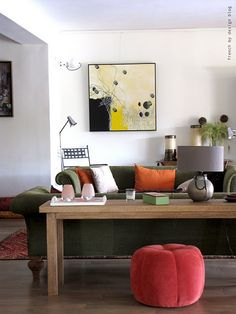 console table + art