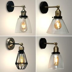 Vintage LED Steampunk Retro Industrial Sconce Indoor Wall Light Home Fitting   | eBay