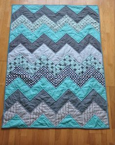 chevron fat quarter quilt.