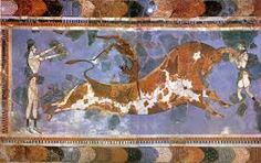 Minoan mural, preserved by volcanic ash.