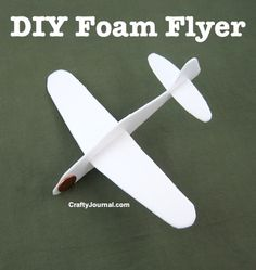 A cool idea by www.craftyjournal.com. Make your own foam flyer out of foam containers!