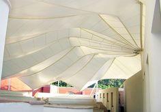SALON DE USOS MÚLTIPLES MUNDO CUERVO • Serge Ferrari composite membrane. Interesting bending-active / tension active hybrid