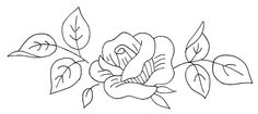 rose - embroidery pattern