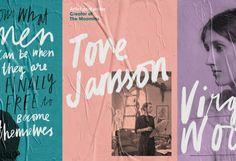 "Fieldwork designs ""Like A Woman"" campaign for Penguin's celebration of female writers Typography Design, Branding Design, Writer Logo, Handwritten Type, Women Poster, Photoshop Tips, Visual Identity, Brand Identity, Art Direction"