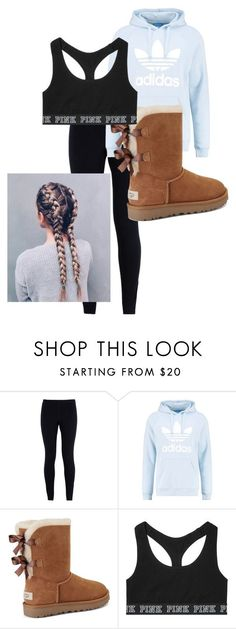 School Outfit by chloefaust on Polyvore featuring NIKE, adidas Originals, UGG and Victorias Secret