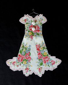 TOO CUTE! Spring Door Hanger Hanky Dress by HankyDresses on Etsy