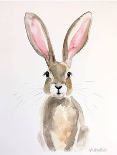 Image result for Black and white bunny painting