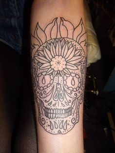 I want one like this, but full of sunshine, #sugar skull #tattoo