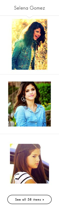 """""""Selena Gomez"""" by laurenasmart ❤ liked on Polyvore featuring selena gomez, selena, people, hair, celebrity, pictures, girls, selenagomez, photos and fillers"""