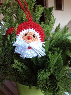 Horgolt karácsonyfa disz.
